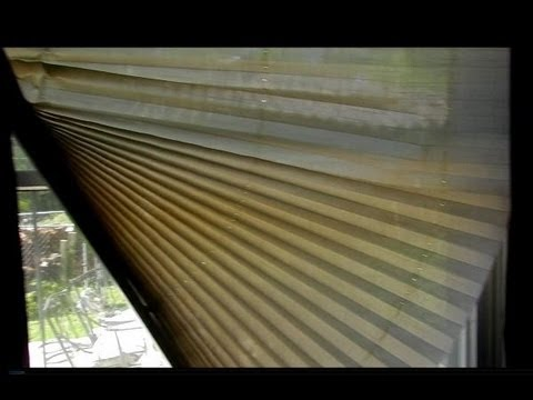 How To Repair A Pleated Shade Youtube