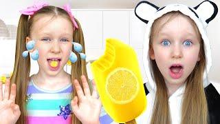 Лиза делает вкусное и невкусное мороженое дома