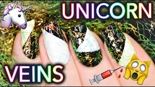 Unicorn Veins on your NAILS! YAS