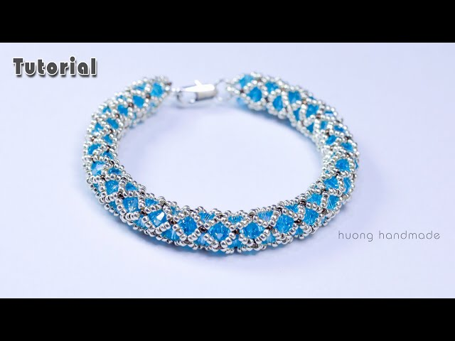 Netted rope bracelet tutorial || Jewelry making || How to make beaded bracelet