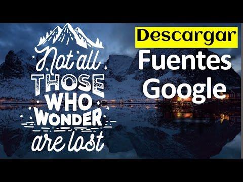 Como Descargar Fuentes De Google Fonts (para Word, Photoshop, etc. GRATIS)
