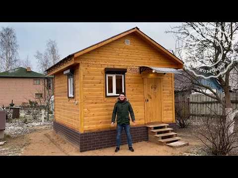 Новогодняя, уютная баня размером 4х4 из профилированного бруса. ЛО, Ломоносовский р-н, д. Лангерево