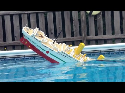 5 Foot LEGO Britannic Model Sinking [Video 2]