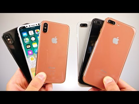 Thumbnail: iPhone 8, 7S Plus & 7S Model Hands On! Copper, Silver & Black
