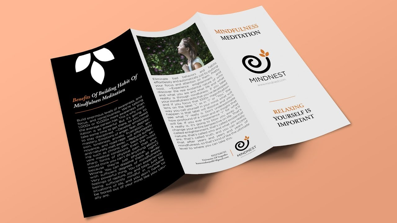 Indesign Tutorial Creating A Trifold Brochure In Indesign And Mockup In Photoshop