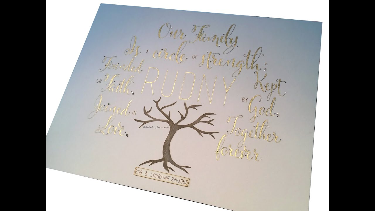 Family tree calligraphy quot x video youtube