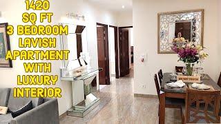 1420 sq ft 3 Bedroom Lavish Apartment with Luxury interior Gillco Parkhills Mohali