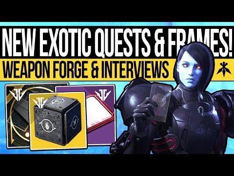 Destiny 2 | NEW EXOTIC QUESTS & FORGE KEYS! Weapon Frames, New Mods, Vendor Preview & DLC Title!