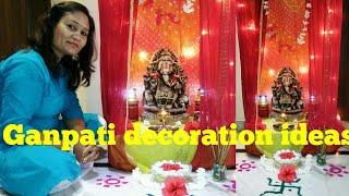 cheapest decoration ideas for Ganpati 2018,ganpati decor in zero budget,anvesha,s creativity