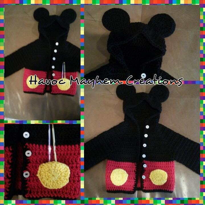 Tutorial How To Crochet A Mickey Mouse Baby Sweater Hoodie Part 2
