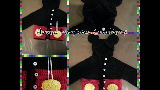 Tutorial How to Crochet a Mickey Mouse Baby Sweater Hoodie (Part 2) By Sabrina Sun