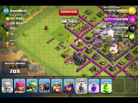 Clash of clans: wall jumping raid