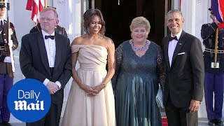 Obamas welcome Nordic leaders to state dinner - Daily Mail