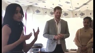 Proud Harry & Doria Watch Meghan Make Passionate Speech - Launch Grenfell Cookbook 2018