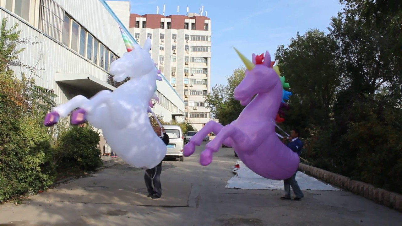 fac0fb2157b0 Adult Inflatable Unicorn Costume Horse Rider Suit Outfit - YouTube