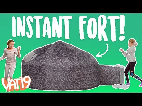 Make an Inflatable Fort in seconds [The AirFort]