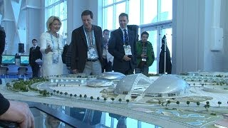 ROC President Alexander Zhukov visits the opening ceremony of the Sochi Media Center