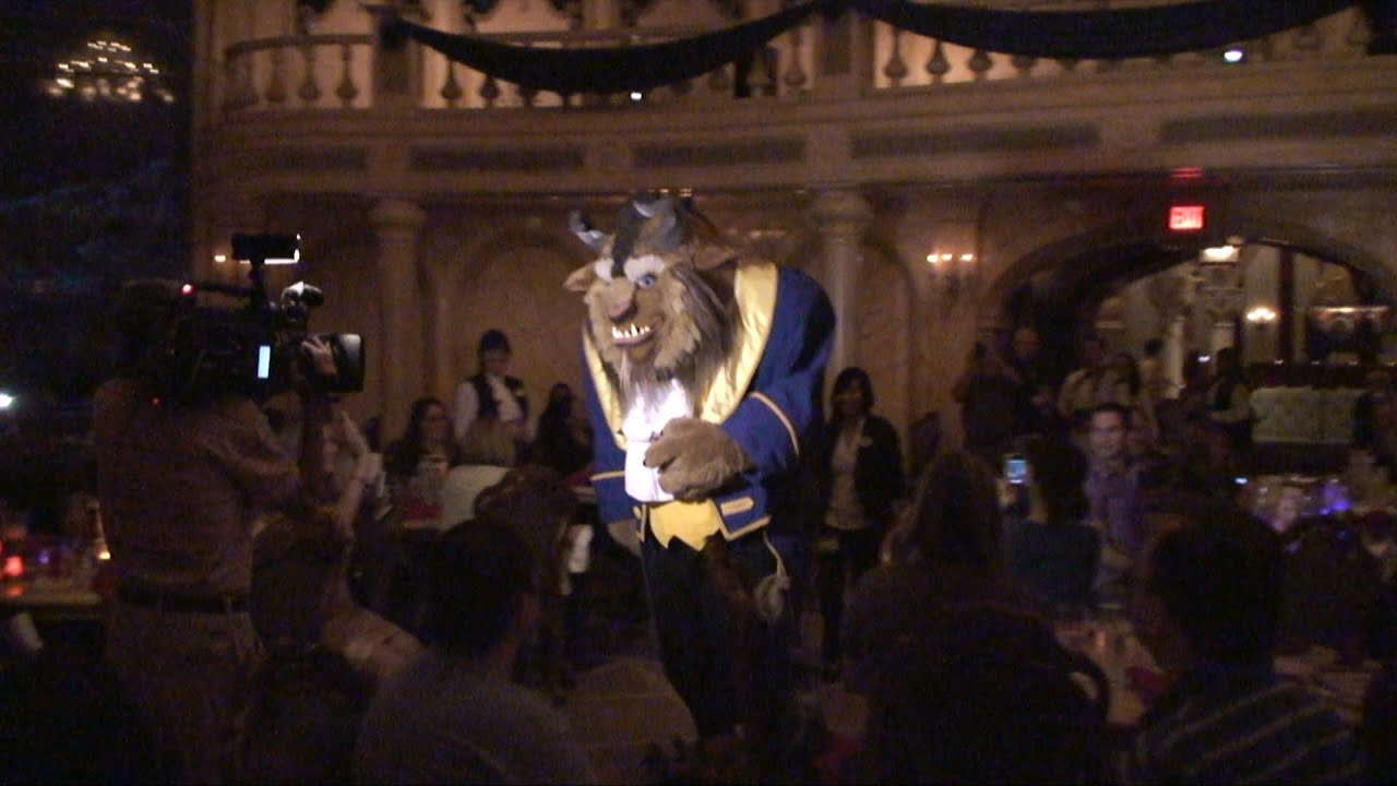 Beast At Be Our Guest Restaurant Entrance Meet Greet Magic