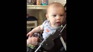 Fart scares baby