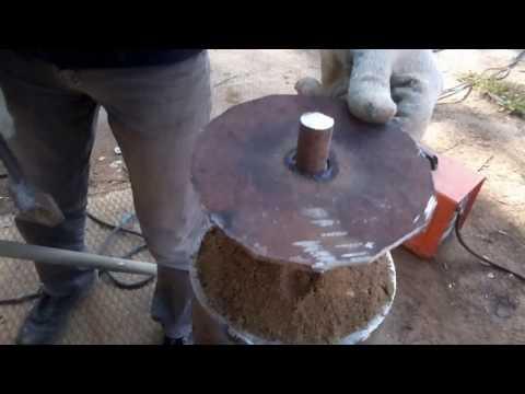 Каток для трамбовки грунта (песка), своими руками