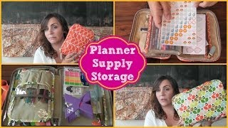 Planner Supply/Sticker Storage Using Orla Kiely Cosmetic Bags