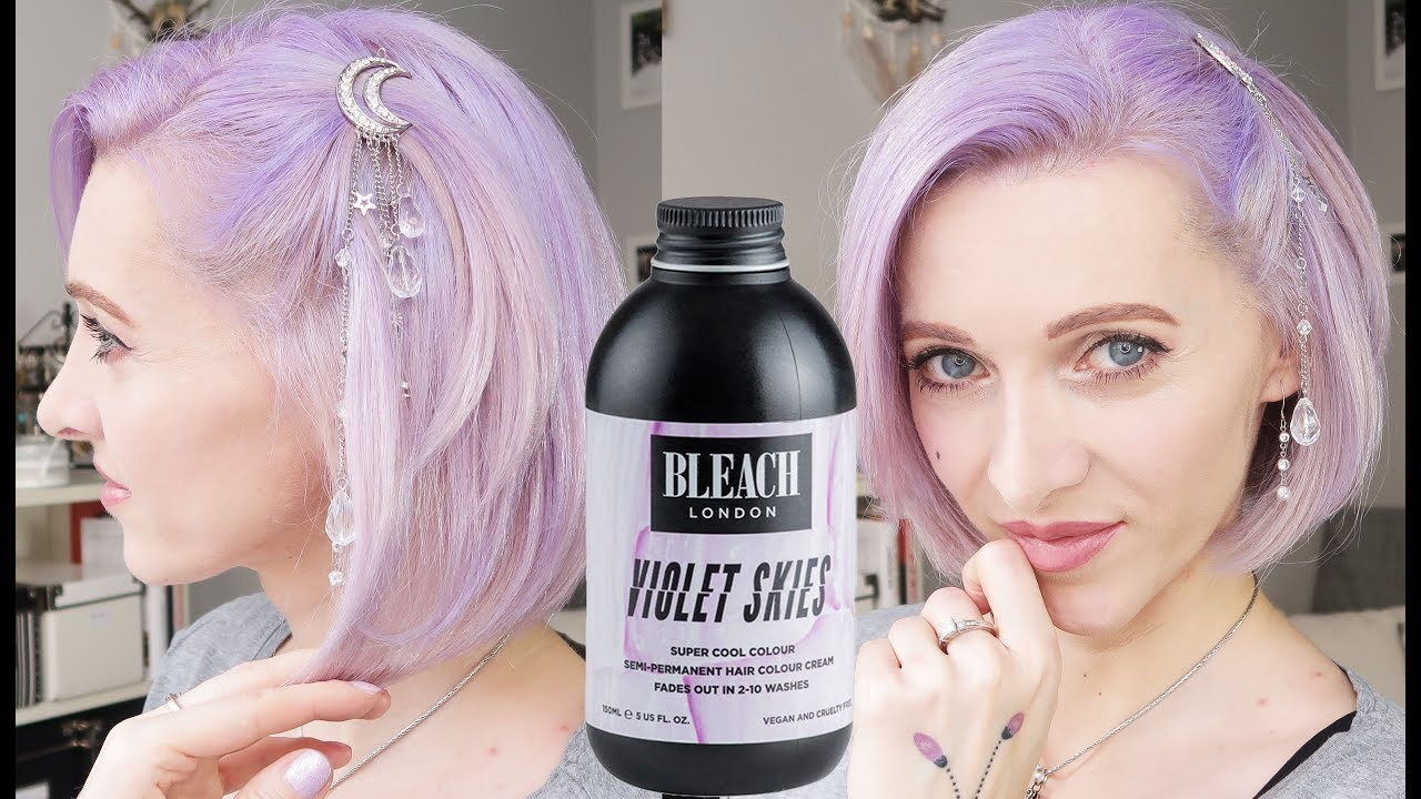 Violet Skies By Bleach London Pastel Hair Dye Review Youtube