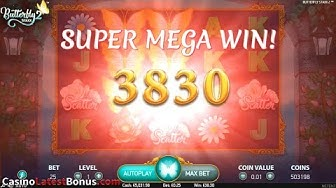 Butterfly Staxx 2 from NetEnt (FREESPINS, BONUS, BIGWIN, SUPERBIGWIN, MEGAWIN)