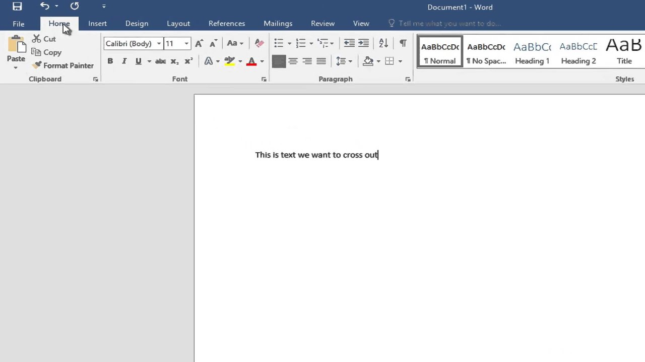 How To Cross Out Text In Microsoft Word [For Beginners]
