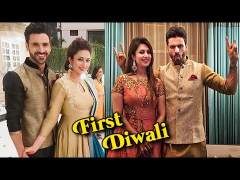 18878263a Divyanka Tripathi And Vivek Dahiya FIRST Diwali After Wedding - YouTube