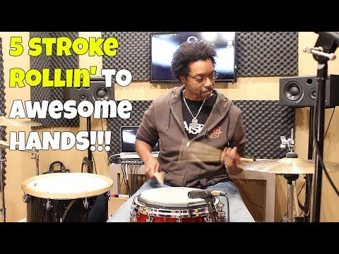 5 STROKE ROLLIN' To AWESOME HANDS!!  3 Killer Pad Exercises