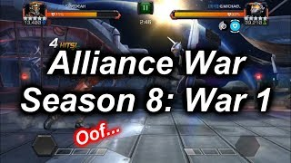 AW S8W1 - Dying in the first War of the Season...(path 9) - Marvel Contest Of Champions