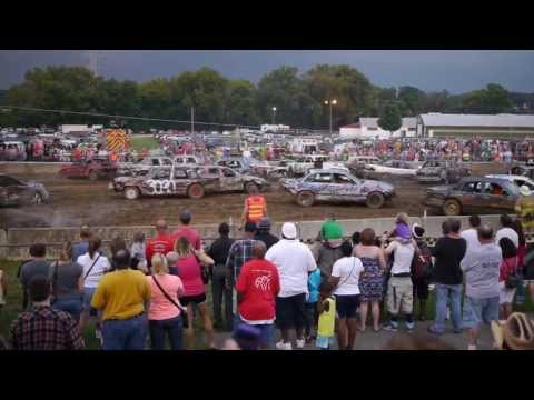 Demolition Derby Hamilton County Fair Cincinnati OH 08/10/2013 Part II