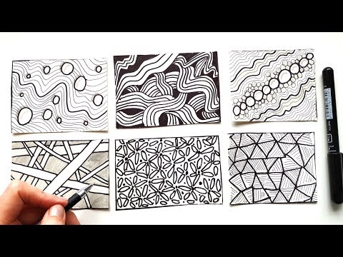 easy-zentangle-patterns-for-beginners---art-tutorial-\-how-to-draw-doodles