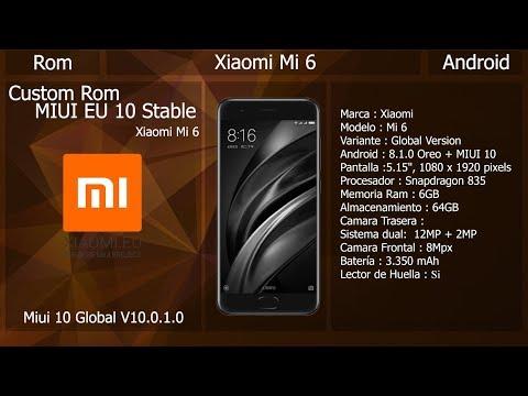 Rom Xiaomi EU - MIUI 10 Global Estable - Xiaomi