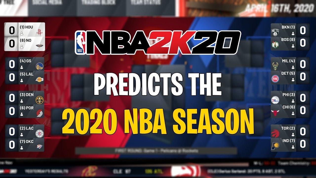 Nba 2k20 Predicts The 2020 Nba Season