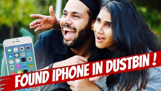 FOUND IPHONE IN DUSTBIN !