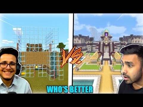 Techno Gamerz Vs Live Insaan Minecraft | @Techno Gamerz, @Live Insaan | Minecraft | MCPE