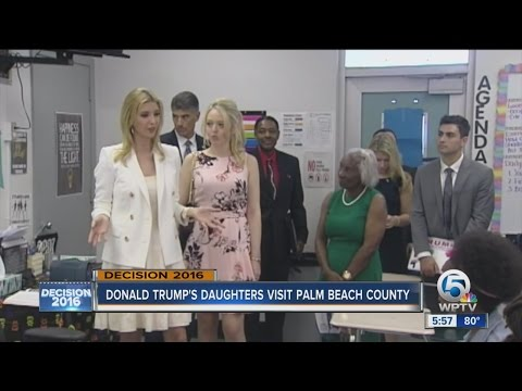 Donald trump's daughters visit Palm Beach County