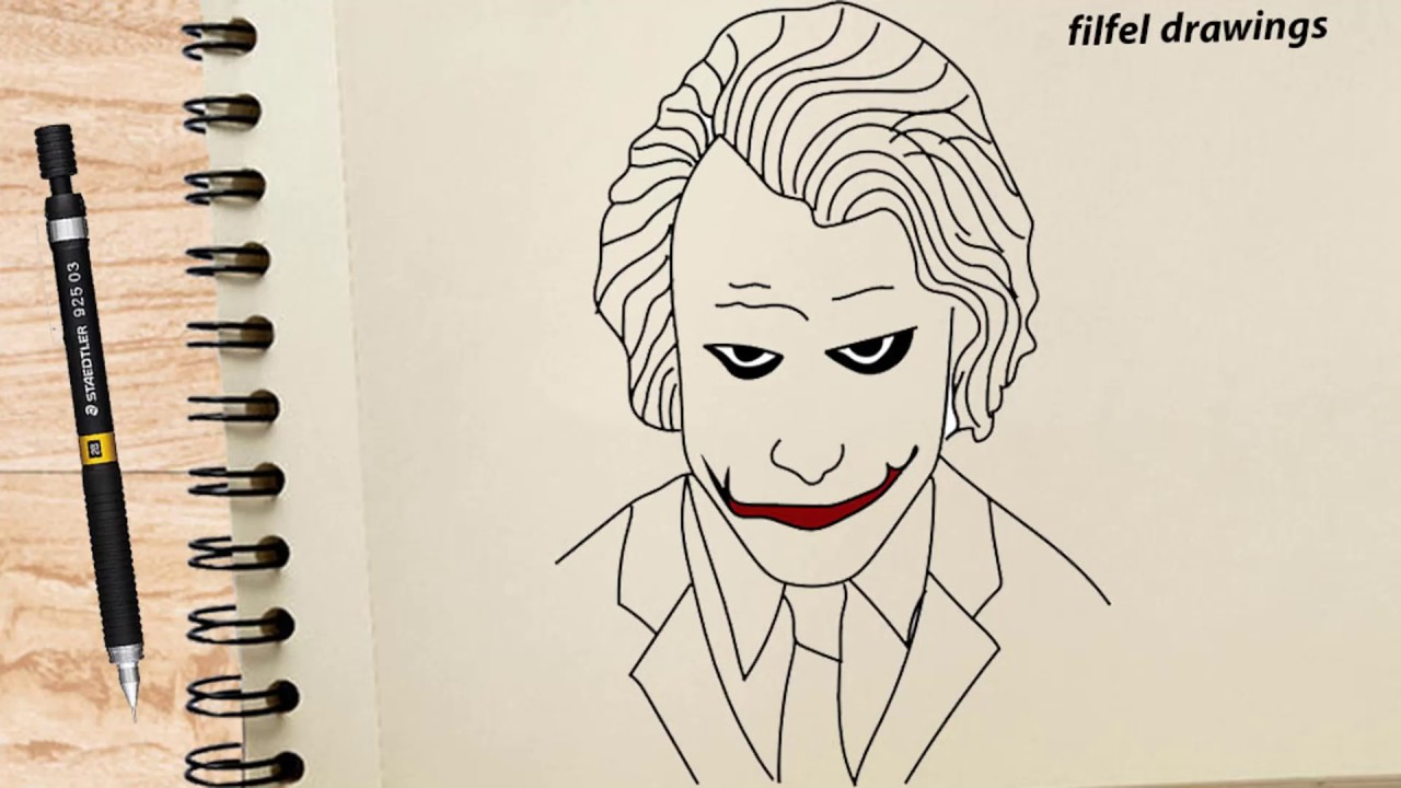 Easy Drawing Pencil Drawing How To Draw Joker Step By Step Youtube