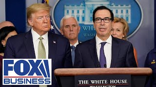 Trump, Mnuchin participates in meeting with Bank CEOs over small business loans