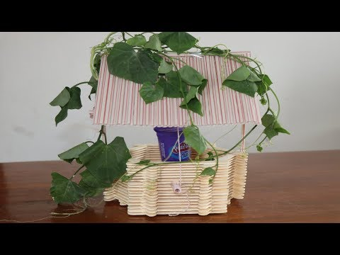 How to Make  Mini Water Well With Popsicle Sticks   DIY Mini Well   5 MINUTE CRAFTS VIDEOS