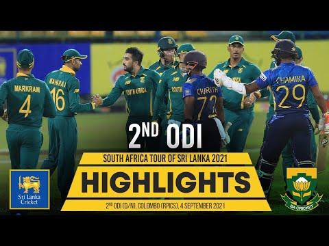 2nd ODI Highlights   Sri Lanka vs South Africa 2021