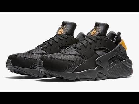save off 24f5d 412af Unboxing Nike Air Huarache Black and Metallic Gold
