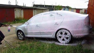 Бесконтактная мойка машины активной пеной GRASS - Active Foam Pink с насадкой MJJC Foam Lance(Ссылка на товар: http://goo.gl/cTeSGl Бесконтактная мойка машины активной пеной GRASS - Active Foam Pink. Вначале ополоснул..., 2015-08-08T17:13:07.000Z)