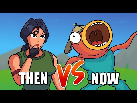 Fortnite Then vs Now - Building (Animation)