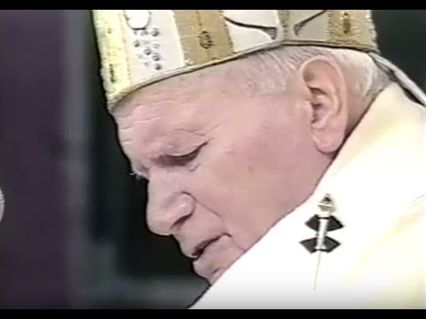 Pope John Paul II Papal Mass in Central Park 1995 (Live Feed)
