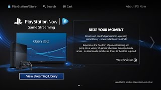 PlayStation Now Beta - Hands-On Impressions