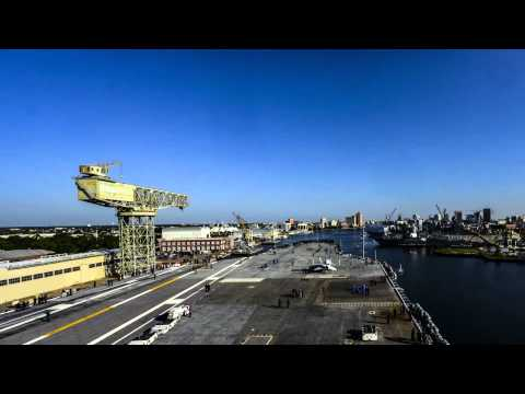 Time Lapse of Ike's Transit from Norfolk Naval Shipyard