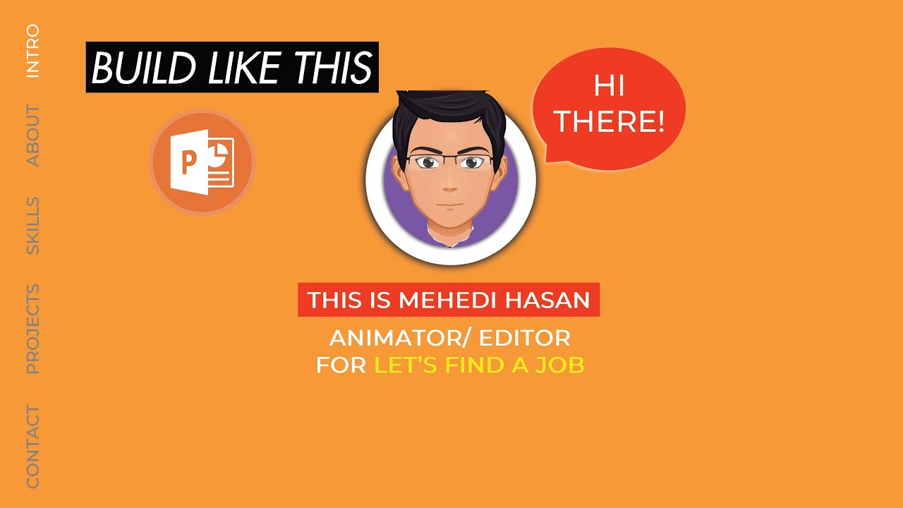 How to Make an Animated CV on PowerPoint [Develop Your ...