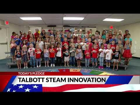 Talbott STEAM Innovation School kindergarten Pledge of Allegiance